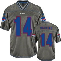Nike Bills #14 Sammy Watkins Grey Men's Stitched NFL Elite Vapor Jersey