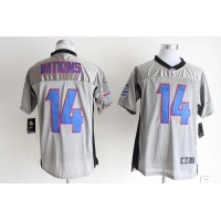 Nike Bills #14 Sammy Watkins Grey Shadow Men's Stitched NFL Elite Jersey