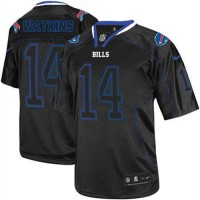 Nike Bills #14 Sammy Watkins Lights Out Black Men's Stitched NFL Elite Jersey