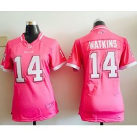 Nike Bills #14 Sammy Watkins Pink Women's Stitched NFL Elite Bubble Gum Jersey