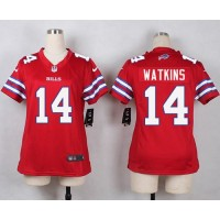 Nike Bills #14 Sammy Watkins Red Women's Stitched NFL Limited Rush Jersey