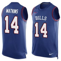 Nike Bills #14 Sammy Watkins Royal Blue Team Color Men's Stitched NFL Limited Tank Top Jersey