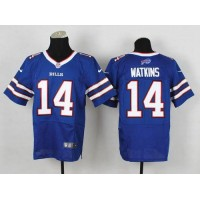 Nike Bills #14 Sammy Watkins Royal Blue Team Color Men's Stitched NFL New Elite Jersey