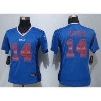Nike Bills #14 Sammy Watkins Royal Blue Team Color Women's Stitched NFL Elite Strobe Jersey