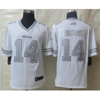 Nike Bills #14 Sammy Watkins White Men's Stitched NFL Limited Platinum Jersey