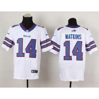 Nike Bills #14 Sammy Watkins White Men's Stitched NFL New Elite Jersey