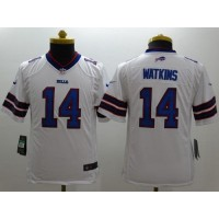 Nike Bills #14 Sammy Watkins White Women's Stitched NFL Limited Jersey