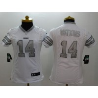 Nike Bills #14 Sammy Watkins White Women's Stitched NFL Limited Platinum Jersey