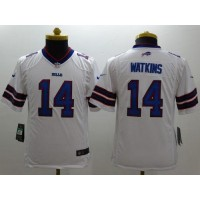 Nike Bills #14 Sammy Watkins White Youth Stitched NFL Limited Jersey