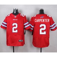 Nike Bills #2 Dan Carpenter Red Men's Stitched NFL Elite Rush Jersey