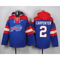 Nike Bills #2 Dan Carpenter Royal Blue Player Pullover NFL Hoodie