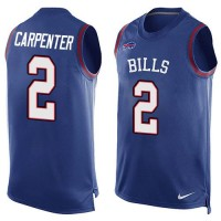 Nike Bills #2 Dan Carpenter Royal Blue Team Color Men's Stitched NFL Limited Tank Top Jersey