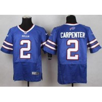 Nike Bills #2 Dan Carpenter Royal Blue Team Color Men's Stitched NFL New Elite Jersey