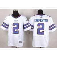 Nike Bills #2 Dan Carpenter White Men's Stitched NFL New Elite Jersey