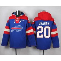 Nike Bills #20 Corey Graham Royal Blue Player Pullover NFL Hoodie