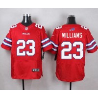 Nike Bills #23 Aaron Williams Red Men's Stitched NFL Elite Rush Jersey