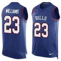 Nike Bills #23 Aaron Williams Royal Blue Team Color Men's Stitched NFL Limited Tank Top Jersey