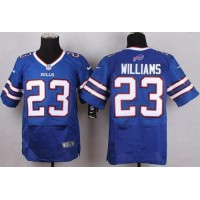 Nike Bills #23 Aaron Williams Royal Blue Team Color Men's Stitched NFL New Elite Jersey