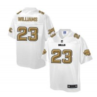 Nike Bills #23 Aaron Williams White Men's NFL Pro Line Fashion Game Jersey