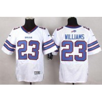 Nike Bills #23 Aaron Williams White Men's Stitched NFL New Elite Jersey