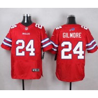 Nike Bills #24 Stephon Gilmore Red Men's Stitched NFL Elite Rush Jersey