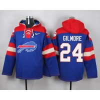 Nike Bills #24 Stephon Gilmore Royal Blue Player Pullover NFL Hoodie
