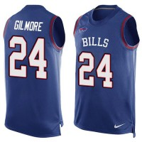 Nike Bills #24 Stephon Gilmore Royal Blue Team Color Men's Stitched NFL Limited Tank Top Jersey