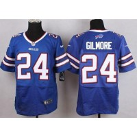 Nike Bills #24 Stephon Gilmore Royal Blue Team Color Men's Stitched NFL New Elite Jersey