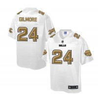 Nike Bills #24 Stephon Gilmore White Men's NFL Pro Line Fashion Game Jersey