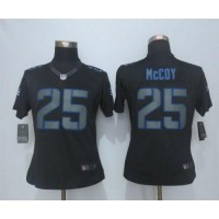 Nike Bills #25 LeSean McCoy Black Impact Women's Stitched NFL Limited Jersey