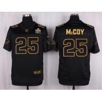Nike Bills #25 LeSean McCoy Black Men's Stitched NFL Elite Pro Line Gold Collection Jersey