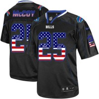 Nike Bills #25 LeSean McCoy Black Men's Stitched NFL Elite USA Flag Fashion Jersey