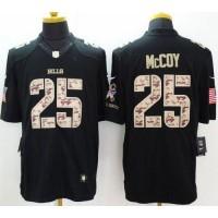 Nike Bills #25 LeSean McCoy Black Men's Stitched NFL Limited Salute to Service Jersey