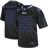 Nike Bills #25 LeSean McCoy Lights Out Black Men's Stitched NFL Elite Jersey