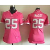 Nike Bills #25 LeSean McCoy Pink Women's Stitched NFL Elite Bubble Gum Jersey