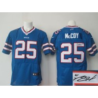 Nike Bills #25 LeSean McCoy Royal Blue Team Color Men's Stitched NFL Elite Autographed Jersey