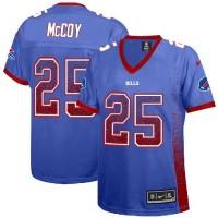 Nike Bills #25 LeSean McCoy Royal Blue Team Color Women's Stitched NFL Elite Drift Fashion Jersey
