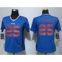 Nike Bills #25 LeSean McCoy Royal Blue Team Color Women's Stitched NFL Elite Strobe Jersey