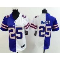Nike Bills #25 LeSean McCoy Royal BlueWhite Women's Stitched NFL Elite Split Jersey