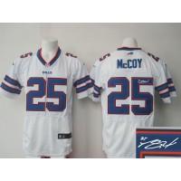 Nike Bills #25 LeSean McCoy White Men's Stitched NFL Elite Autographed Jersey