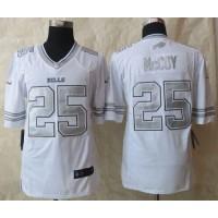 Nike Bills #25 LeSean McCoy White Men's Stitched NFL Limited Platinum Jersey