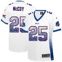 Nike Bills #25 LeSean McCoy White Women's Stitched NFL Elite Drift Fashion Jersey