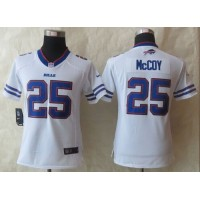 Nike Bills #25 LeSean McCoy White Women's Stitched NFL Limited Jersey