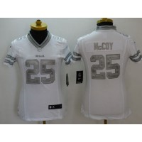 Nike Bills #25 LeSean McCoy White Women's Stitched NFL Limited Platinum Jersey