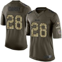 Nike Bills #28 Ronald Darby Green Youth Stitched NFL Limited Salute to Service Jersey