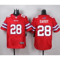 Nike Bills #28 Ronald Darby Red Men's Stitched NFL Elite Rush Jersey