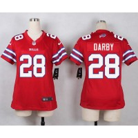 Nike Bills #28 Ronald Darby Red Women's Stitched NFL Limited Rush Jersey