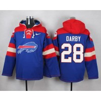 Nike Bills #28 Ronald Darby Royal Blue Player Pullover NFL Hoodie