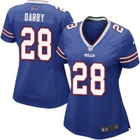 Nike Bills #28 Ronald Darby Royal Blue Team Color Women's Stitched NFL Elite Jersey