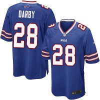 Nike Bills #28 Ronald Darby Royal Blue Team Color Youth Stitched NFL Elite Jersey